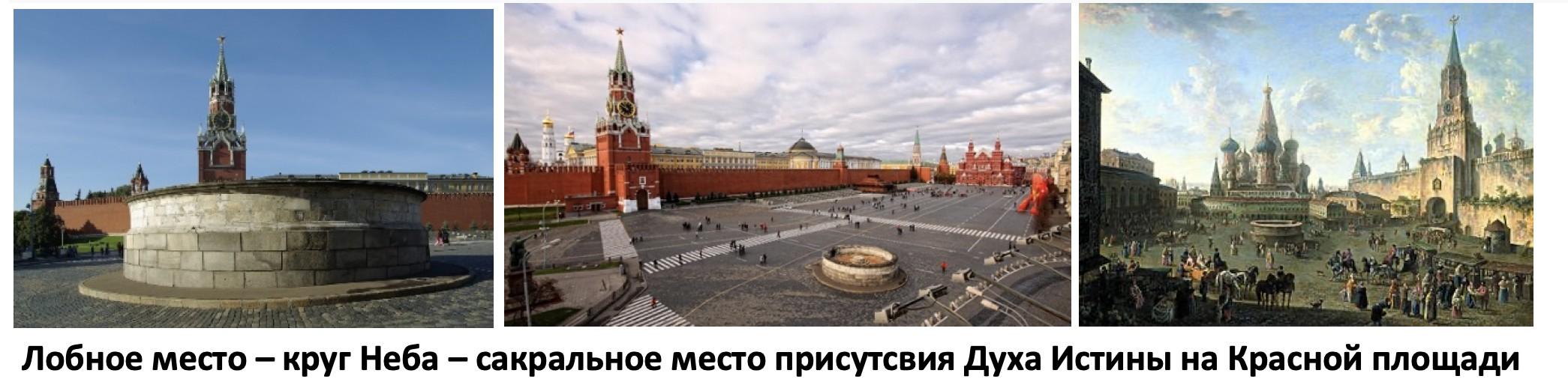 Лобное место круг Неба сакральное место присутствия Духа Истины на Красной площади
